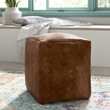 Cillian Leather Pouf by Mistana™