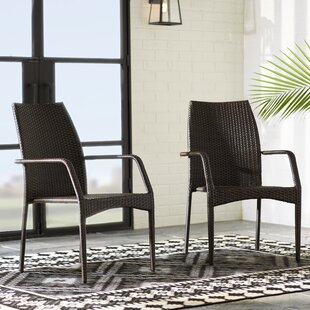 Herod Stacking Patio Dining Chair (Set of 2)