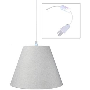 Swag 1-Light Cone Pendant by Home Concept Inc