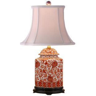 Big Save Porcelain Scallops Jar 22 Table Lamp By Oriental Furniture