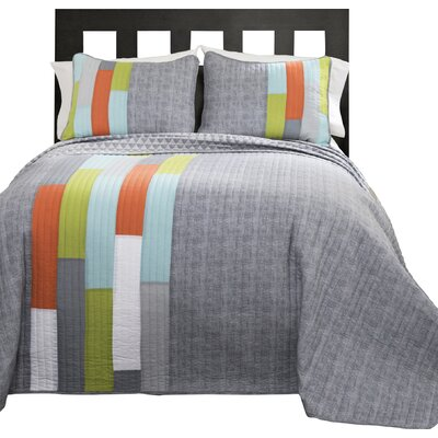 Latitude Run Ramsey Stripe Quilt Set