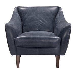 jeffery top grain leather armchair