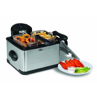 4.2 Liter Dual Deep Fryer by ELITE PLATINUM Today Only Sale