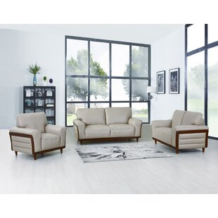 Towery 3 Piece Leather Living Room Set by Latitude Run