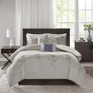 Rondo 5 Piece Embroidered Floral Comforter Set