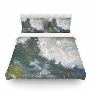 The Crest Nautical Painting by Carol Schiff Featherweight Duvet Cover
