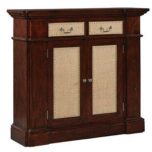 Burlap Benjamin 2 Door 2 Drawer Accent Cabinet by Furniture Classics
