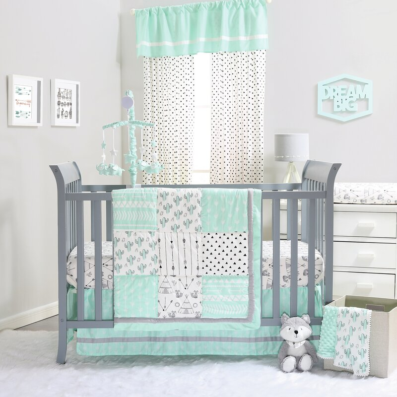 Southwest 4 Piece Crib Bedding Set