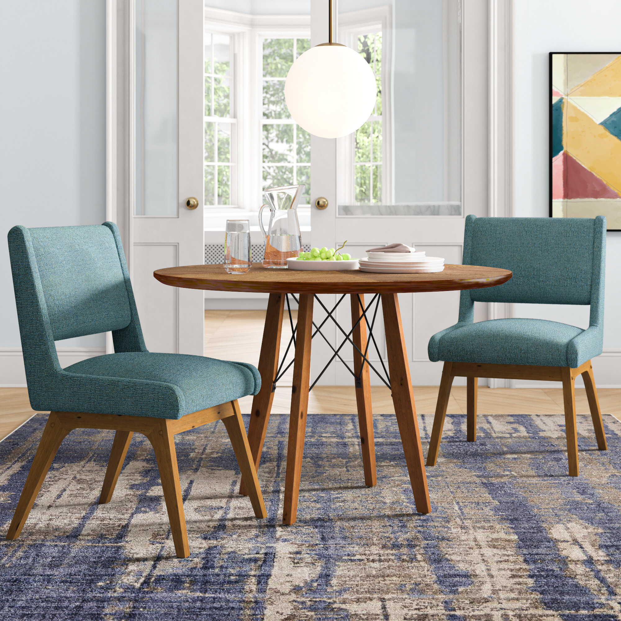 Corrigan Studio Adit 3 Piece Dining Set Reviews Wayfair
