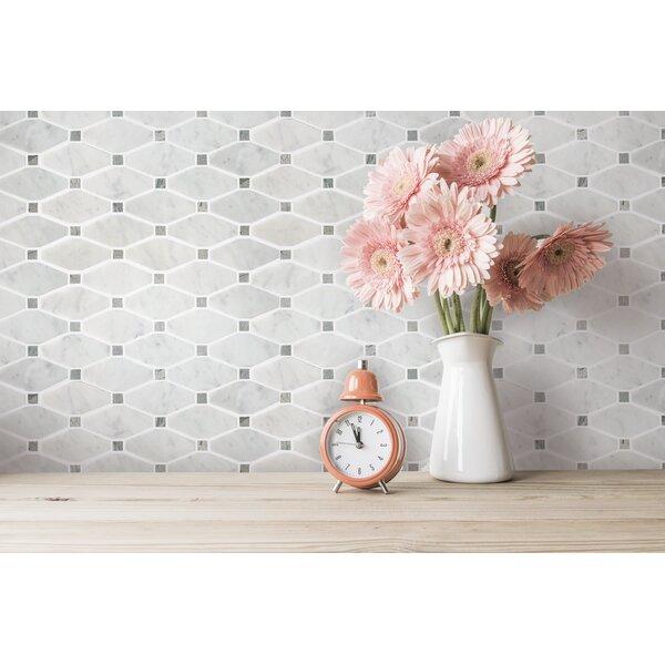 Tile Top Carrara 12 X 12 Natural Stone And Marble Mosaic Tile Wayfair