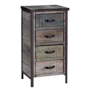 Clayera 4 Drawer Nightstand