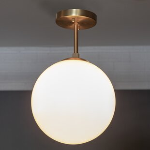 Eveleth 1-Light Semi Flush Mount by Wrought Studio