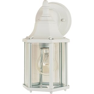 Price comparison Mannox Outdoor Wall Lantern By Three Posts