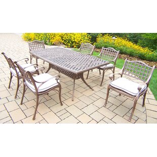 Thelma 7 Piece Traditional Dining Set with Cushions