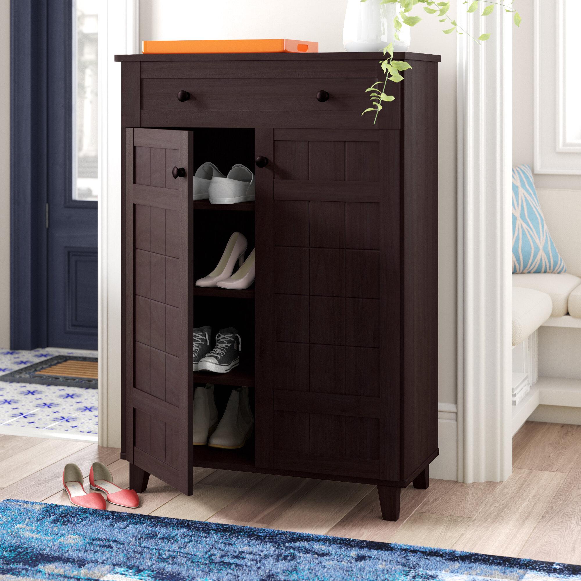 Red Barrel Studio Modern 15 Pair Shoe Storage Cabinet Reviews Wayfair