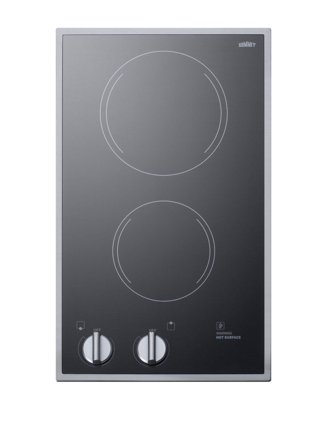 Summit Appliance 12 in Radiant Electric Cooktop in White with 2 Elements including High Power Element
