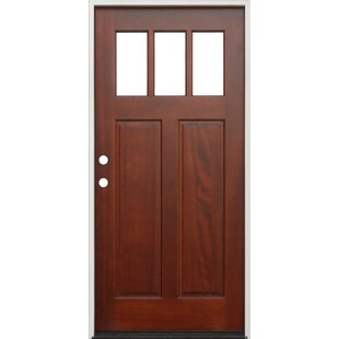Shaker Craftsman 3 Lite Ready To Install Wood Prehung Front Entry Door