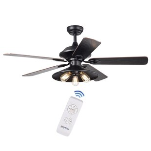 52 Nielson 3-Light 5 Blade Ceiling Fan Light Kit Included