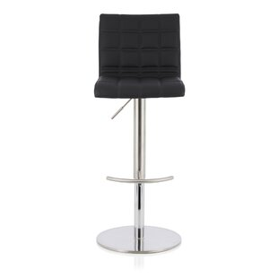 Melendy Height Adjustable Swivel Bar Stool By Wade Logan
