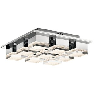 House of Hampton Tennyson 9-Light LED Flush Mount