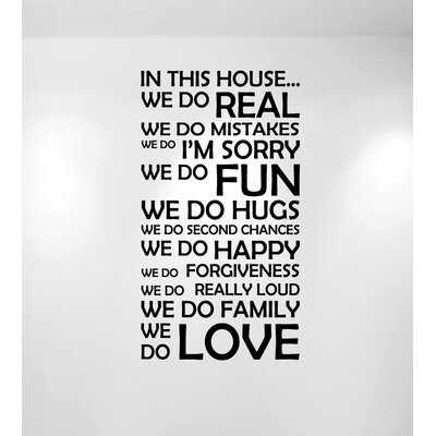 Innovative Stencils In This House We Do Family Quote Wall Decal