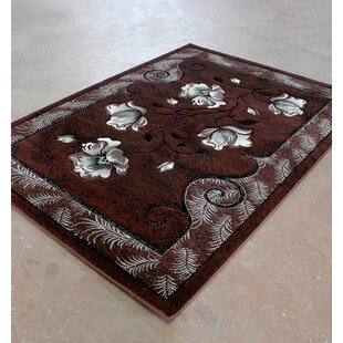 Compare prices Burgundy/Black Area Rug By Rug Tycoon