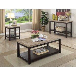Canora Grey Cricklade 3 Piece Coffee Table Set
