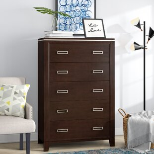 Latitude Run Lonny Contemporary 5 Drawer Chest