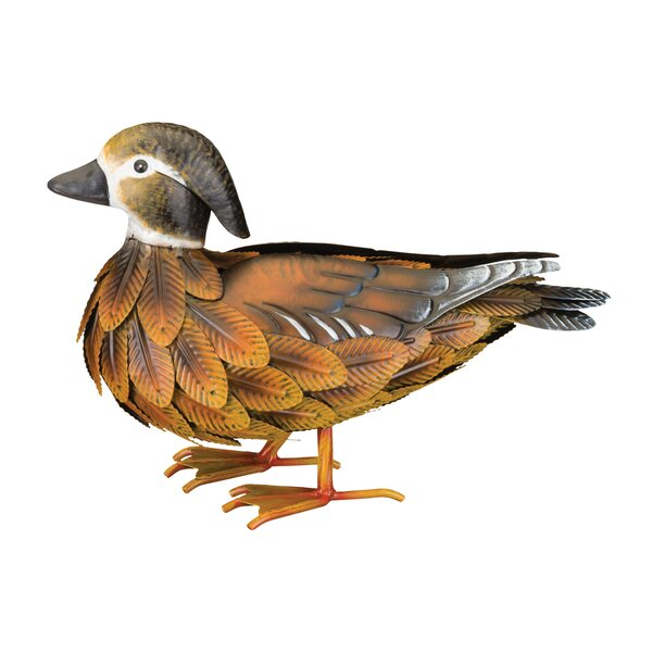 Decorative Garden Ducks Metal Ornament Assorted Pack Of 2 Outdoor