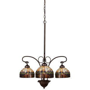 Meyda Tiffany Victorian Tiffany Candice 3-Light Shaded Chandelier