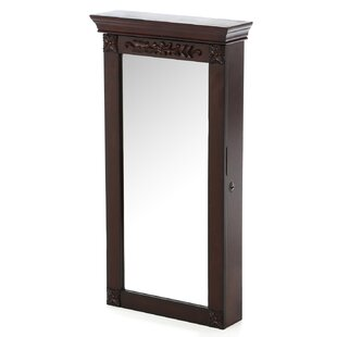Alcott Hill Horstman Wall Mount Jewelry Armoire with Mirror