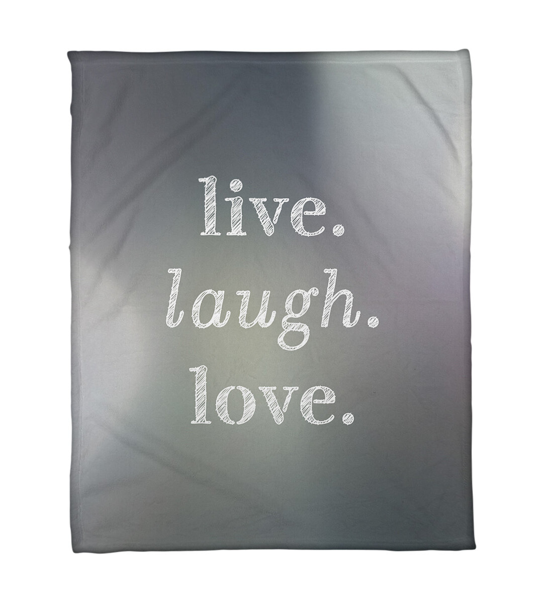 East Urban Home Faux Gemstone Live Laugh Love Quote Fleece Throw Wayfair