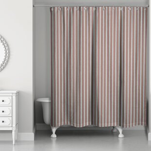 Mathes Stripe Single Shower Curtain