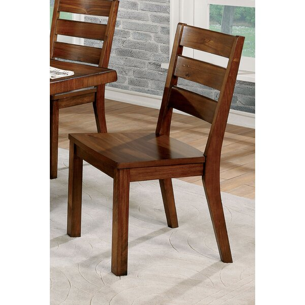 Williston Forge Govea Ladder Back Side Chair In Brown Cherry Reviews Wayfair