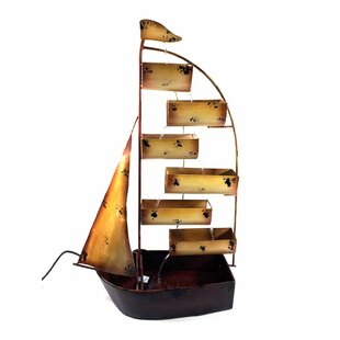 Marshall Sail Boat Metal Fountain By Happy Larry