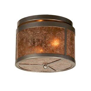 Meyda Tiffany Smythe Craftsman 2-Light Flush Mount