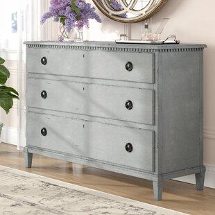 Mikah 3 Drawer Standard Dresser/Chest by One Allium Way