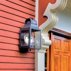 Aquilar 1-Light Outdoor Flush Mount by Ca..