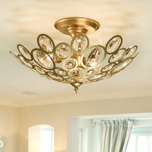 Newnan 3-Light Semi Flush Mount by Everly Quinn