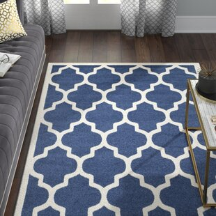 Maritza Navy/Beige Indoor/Outdoor Area Rug