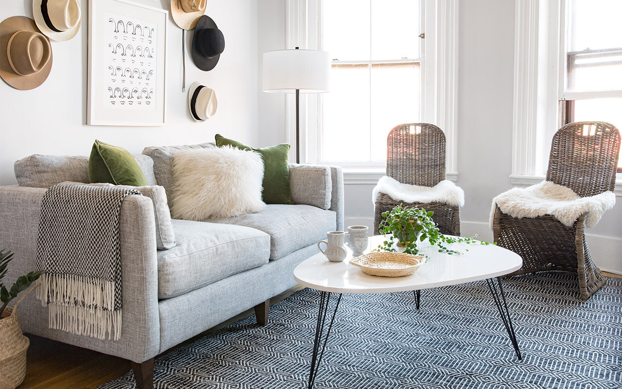 Small-Space Makeover: A Bright, Open Living Room | Wayfair