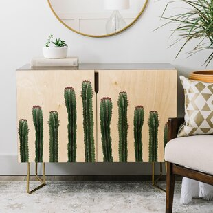 Emanuela Carratoni the Cactus Mood Credenza by East Urban Home