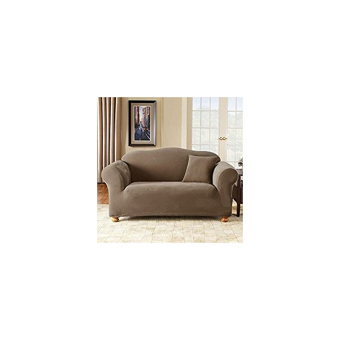 Sensational Stretch Pique Box Cushion Sofa Slipcover Onthecornerstone Fun Painted Chair Ideas Images Onthecornerstoneorg