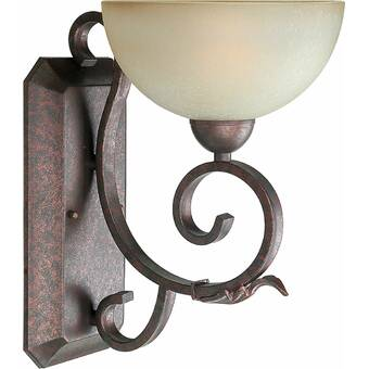 Crystorama Norwalk 1 Light Bronze Umber Armed Sconce Wayfair