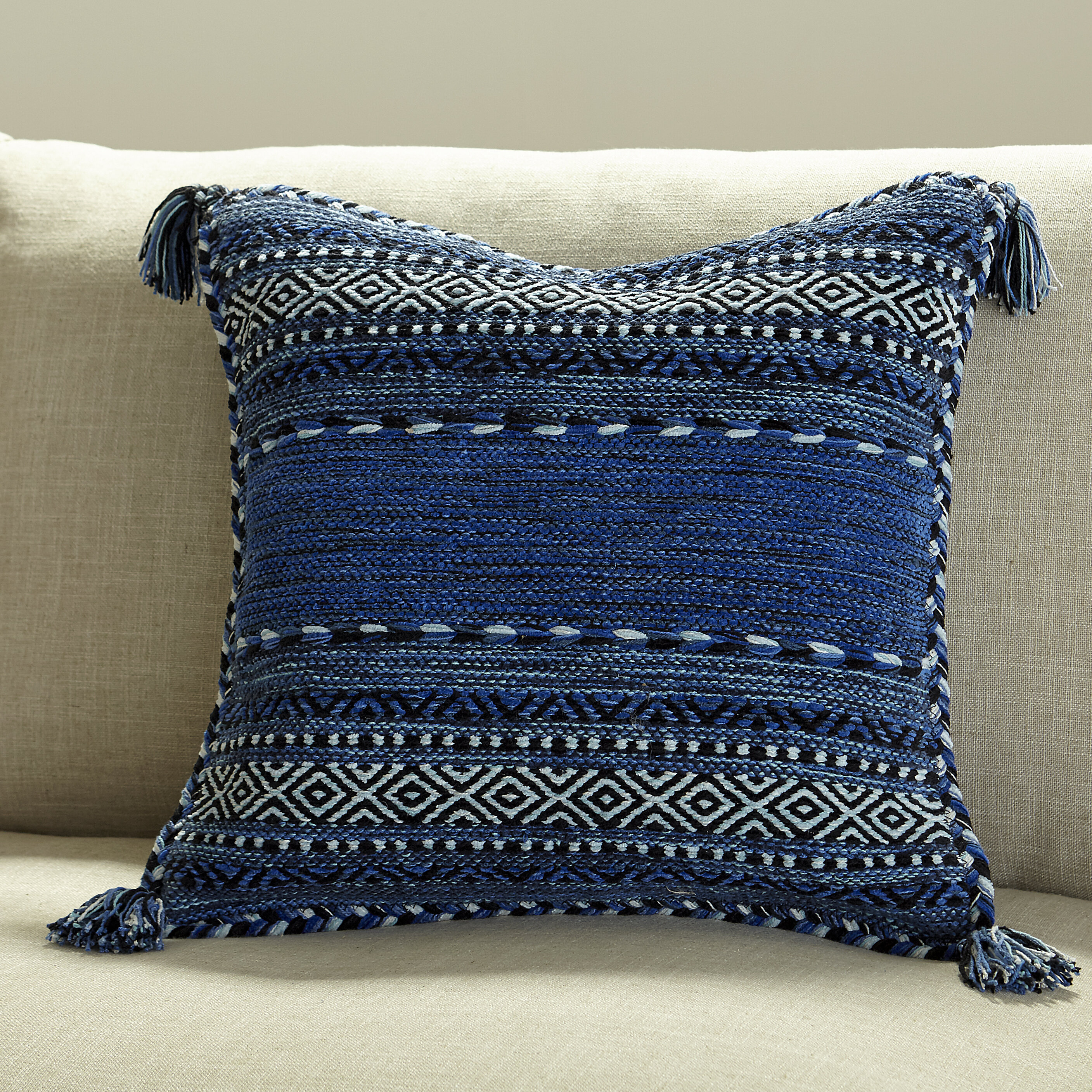 Blue Yellow And Gold Throw Pillows You Ll Love In 2021 Wayfair