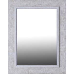 Antique White Wash Accent Mirror