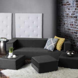 Compare prices Eugene Modular Sleeper Sofa with Ottomans by Zipcode Design Reviews (2019) & Buyer's Guide