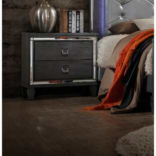 Compare prices Ezio 2 Drawer Nightstand by House of Hampton