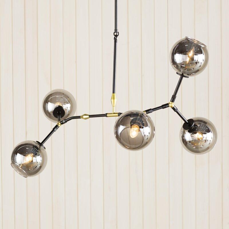 premium selection 0fee1 6e21a Doolin 5-Light Sputnik Modern Linear Chandelier