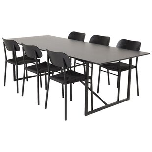 Barnet Dining Set With 6 Chairs By Ebern Designs